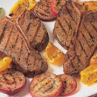 Beef Steak with Parmesan-Grilled Vegetables