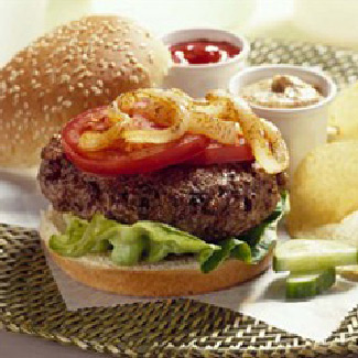 Burgers with Grilled Onions