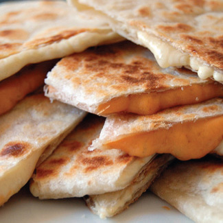 Chocolate Apricot Quesadillas
