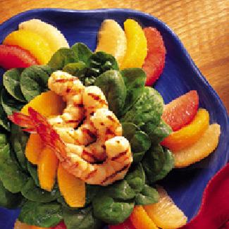 Citrus Salad with Grilled Shrimp Adobo