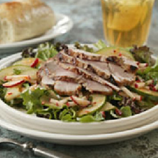 Far East Grilled Pork Tenderloin with Herbed Salad