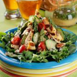 Grilled Chicken Salad With Lime Pale Ale Dressing