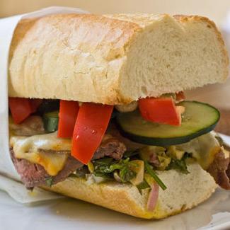 Grilled Peppercorn Sirloin Sandwiches with Sun Dried Tomato Aioli