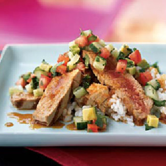 Grilled Tuna with Fruit Salsa