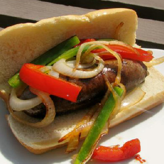Italian Sausage and Pepper Heroes