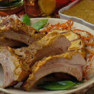 Latin Pork Back Ribs with Smoky Pineapple-Mango