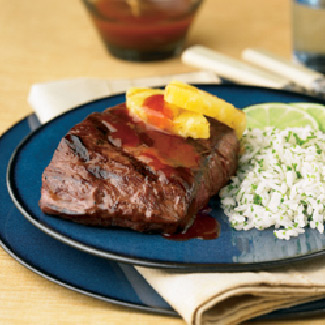 Latin Steak with Sweet & Smoky BBQ Drizzle