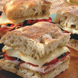 Mediterranean Grilled Tenderloin Focaccia Sandwiches