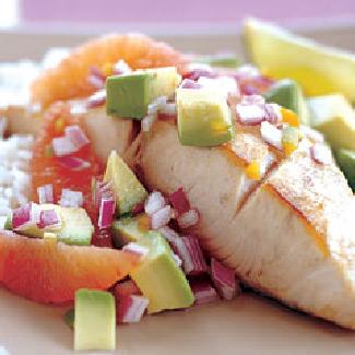 Orange-Lager Grilled Tuna with Orange-Avocado Relish