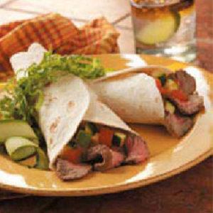 Quick Beef Fajitas with Pico De Gallo