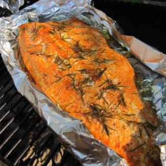Smoked Rosemary Salmon