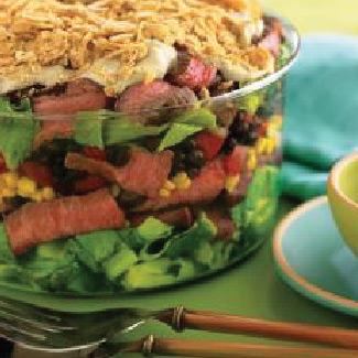 Southwest Steak and Many Layered Salad