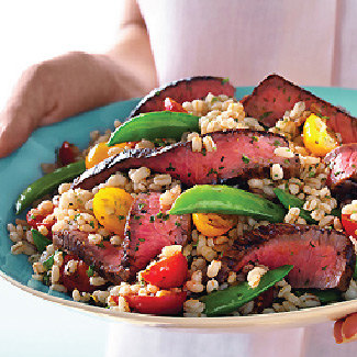 Steak, Sugar Snap Pea & Barley Salad