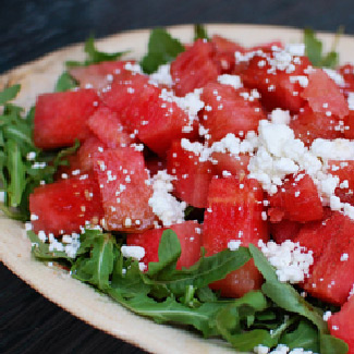 Watermelon & Goat Cheese Salad