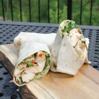 Roasted Red Pepper Chicken Wrap