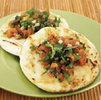 Grilled Arepas with Charred Tomato Salsa