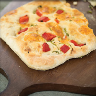 Pepper Jack, Jalapeno and Roasted Red Pepper-Filled Flatbread
