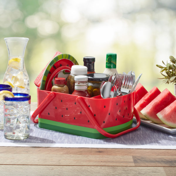 watermelon BBQ caddy